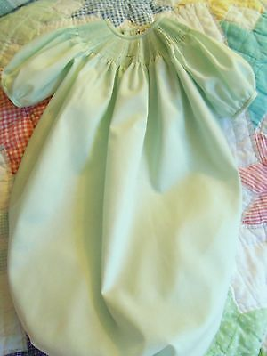 Ready To Smock Green Daygown Saque 0-3 Months