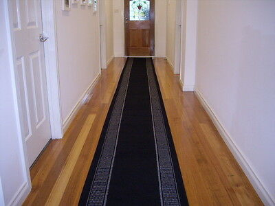 Hallway Runner Hall Runner Rug Modern Black 3 Metres Long FREE DELIVERY 13411