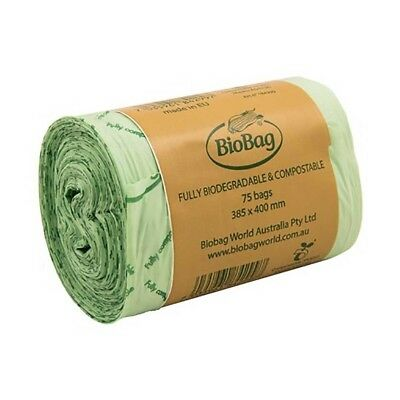 BioBag Compostable Bin Liners 8 Litre Roll (75 Bags)  | BRAND NEW