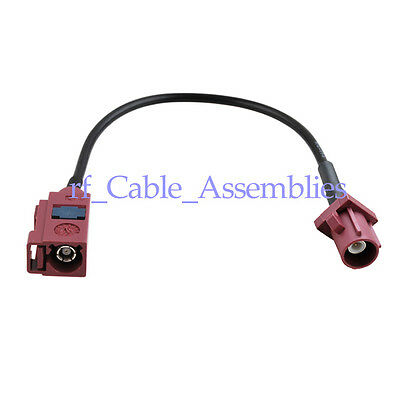 Fakra Jack female to Fakra Plug male D straight pigtail cable RG174 2m for GSM