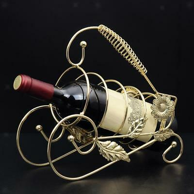 Red Wine Rack Champagne Bottle Holder for Christmas Wedding Decor Golden