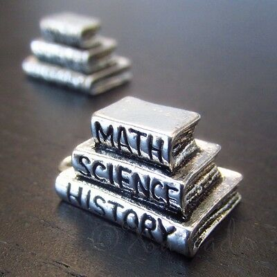 50pc Sterling Silver Plated School Chalk Board Math Charms 6881