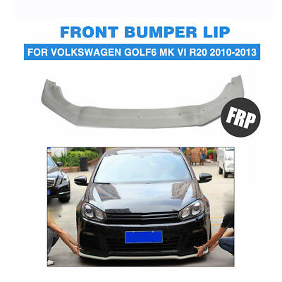 Front Chin Lip Fit for Volkswagen Golf MK6 6 VI R20 Bumper Unpainted FRP 10-13