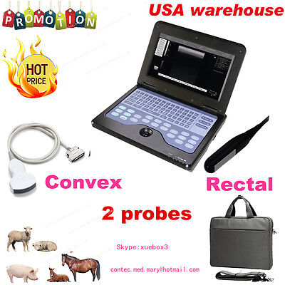 Veterinary Laptop Ultrasound Scanner Machine VET  Rectal&Convex horse/equine/cow