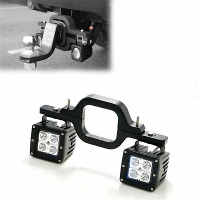 Tow Hitch LED Light Mount Bracket + 2pcs of 16W  Flood CREE  Pod Led Work Light