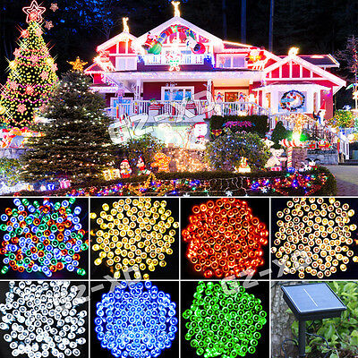 50/100/200/400 LED Solar Power String Fairy Light Outdoor Party Xmas Waterproof