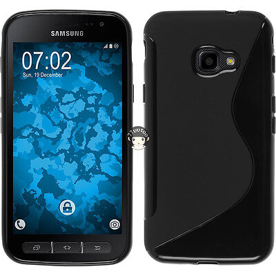 Black Case For Samsung Galaxy Xcover 4 G390F Soft S Line Gel TPU Silicone Cover