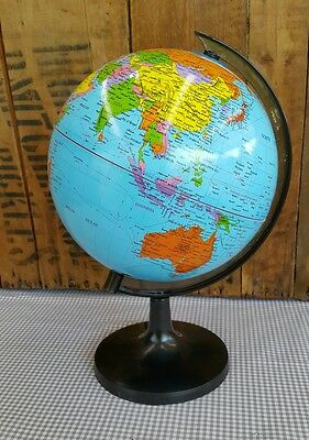 World Globe (20cm) Map With Stand - 30cm tall total - plastic - Educational Toy