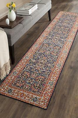 Hallway Runner Hall Runner Rug Modern Blue 4 Metres Long Edith 262