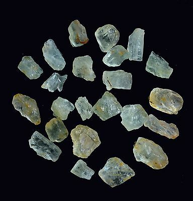 50 Ct Scoop Natural Aquamarine Raw Rough Lot Loose Gemstones Mineral Earthmined