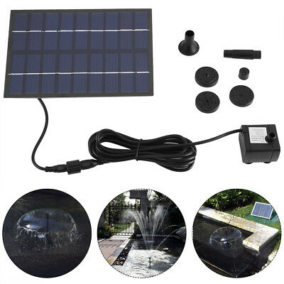 200L/h Solar Powered Panel Water Pump For Garden Plants Fountain Pond Pools Kit