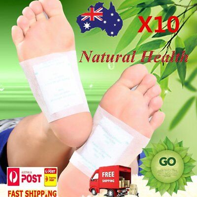 10 x Detox Foot Patch Pad Natural plant Herbal Toxin Removal Weight Loss