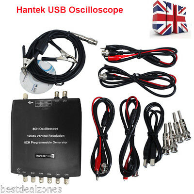 Hantek 1008C 8CH USB Digital Automotive Diagnostic Oscilloscope PC Based Storage