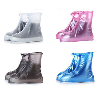 Waterproof Rain Shoes Cover Reusable Boots Flat Overshoes Covers Anti-Slip PVC A