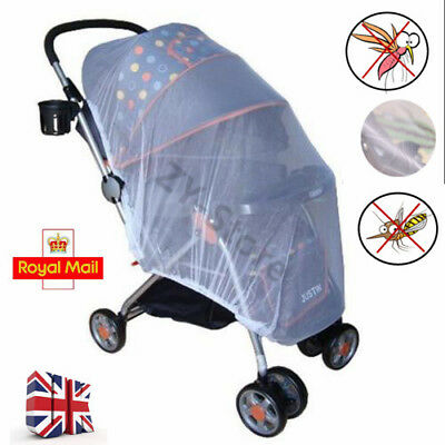UK Baby Kids Stroller Pushchair Buggy Pram Mosquito Fly Insect Net Mesh Cover