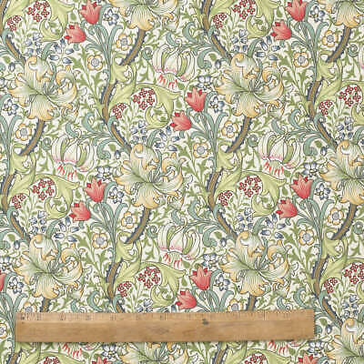 William Morris Golden Lily 100% Cotton Floral Fabric by the Half Metre.