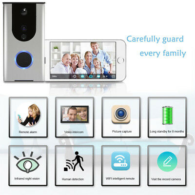Wireless WiFi Remote Video Camera Door Phone Doorbell Intercom PIR Security Bell