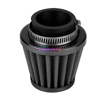 38mm High Flow Air Filter Kit Black for Vehicle Off-road Motorcycle ATV Car