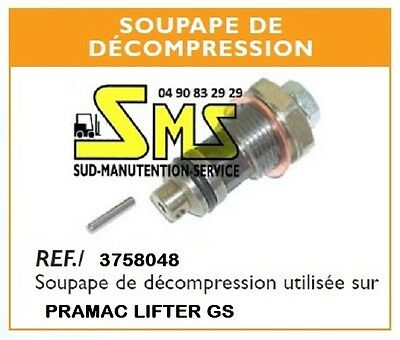 Clapet Soupape De Decompression Tige Transpalette Manuel Pramac Lifter Gs