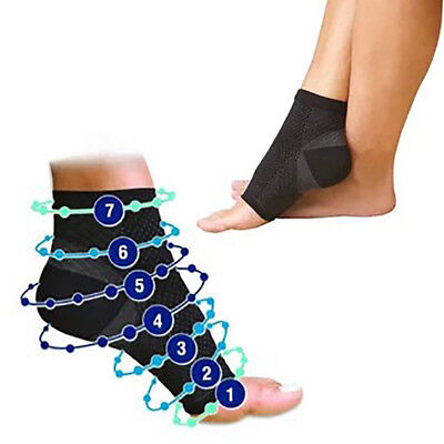US Foot Angel Ankle Sleeve Anti Fatigue Compression Swelling Relief Sock Hot