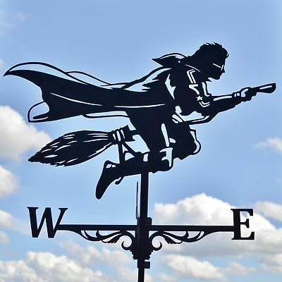 Harry Potter on the broom playing Quidditch Weathervane with roof mount Windvane