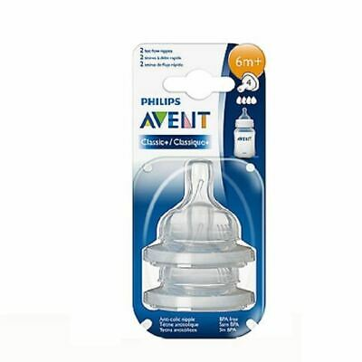 Philips Avent Classic+ Fast Flow Level 4 Teats 6m+ Twin Pack 1 2 3 6 12 Packs