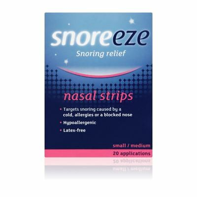 Snoreeze Snoring Relief Nasal Strips Small/Medium 10 1 2 3 6 12 Packs