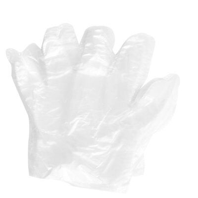 50 Pair Food Service Hand Protective Plastic Disposable Gloves Clear