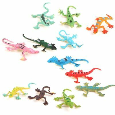 Gecko small plastic lizard Simulation reality decoration Children's toys 12 pcs