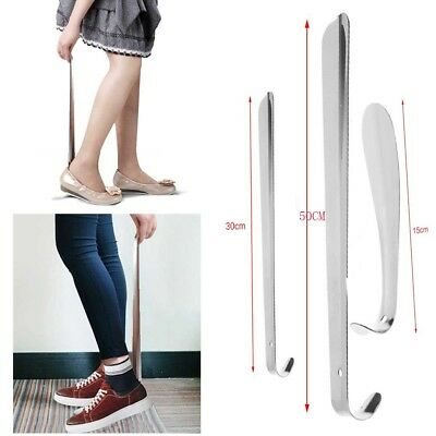 New 15/30/50cm Shoe Horn Stainless Steel Silver Metal Shoes Remover Shoehorn US