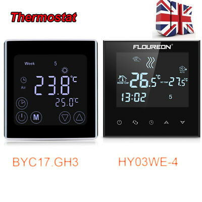 Digital Touch LCD Display Electric Thermostat Room Underfloor Heating Control UK