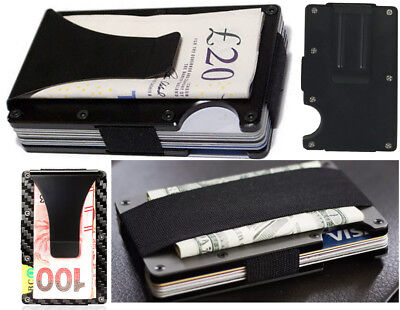 Slim RFID Blocking Wallet Aluminium Front Pocket Money Clip Card Holder