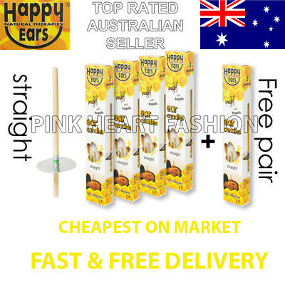 New Happy Ear Candles Sale 4 + 1 Pairs Ancient Natural Therapy Clean Wax Detox