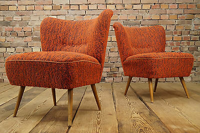 50er Rockabilly COCKTAIL SESSEL LOUNGE CHAIR VINTAGE Mid-Century CLUBSESSEL 1/2