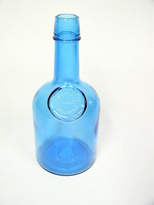 "Wheaton Cool Blue Rogers Bros 1850 Salem Nj Whiskey 9 1/4"" Tall Glass Bottle"