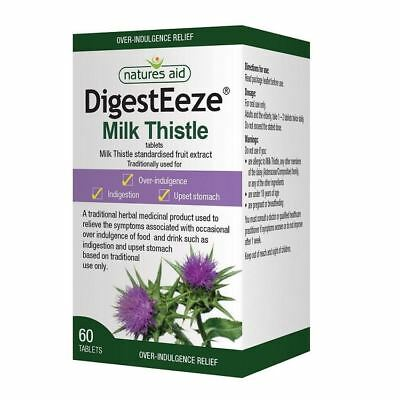 Natures Aid DigestEeze Milk Thistle 60 Tablets 1 2 3 6 12 Packs