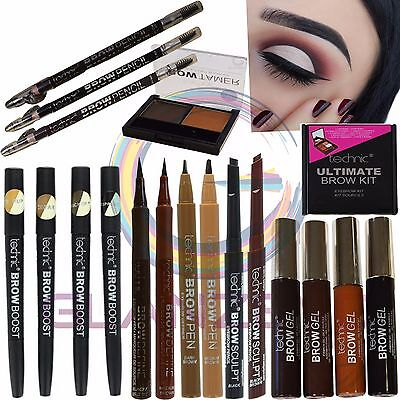Technic Eyebrow Make up Highlight Duo Kit Pencil Pen Boost Define Shape Eye Brow