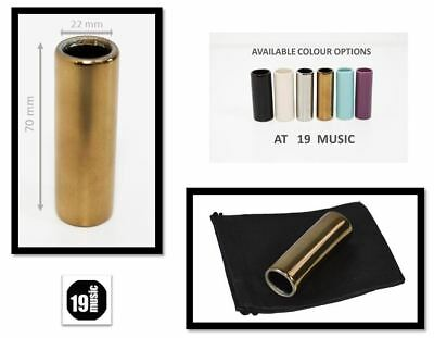 Ceramic Guitar Slide by 19Music super strong GOLD COPPER L Large size 22mm UK