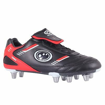 Optimum Mens Tribal Rugby Boots Black/Red 11 UK