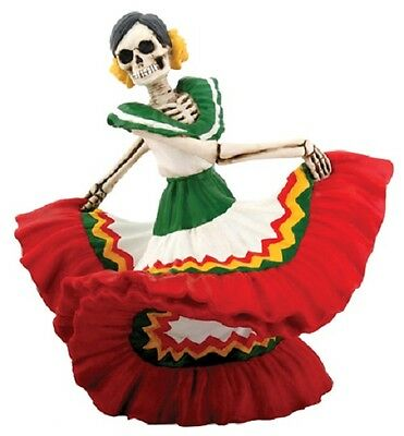 NEW! Day of the Dead Dancing Senorita Red Figurine DOD Collectible Statue 7813