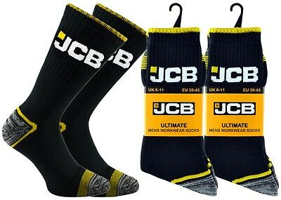 3 pair pack mens official jcb heavy duty extra strong work socks size 6-11