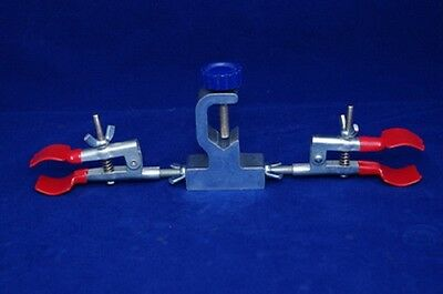 Lab Clamp Holder with Swivel double head Buret Utility  new
