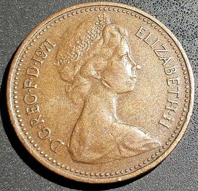 1P coins various years, circulated. (1971 oldest)