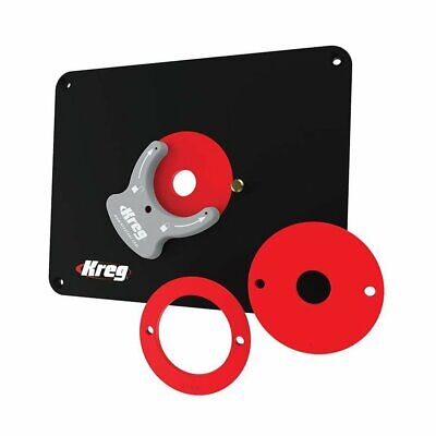 Kreg PRS4036 Router Table Insert Plate w/ Level-Loc Rings - Predrilled for Bosch