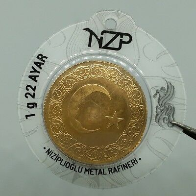 1 gram gold bullion coin 22 Carat NZP Gold Refinery 916 Fine goldbarren lingotes