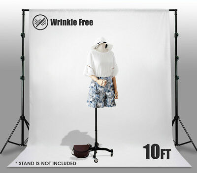 10 x 10 Ft White Muslin Backdrop Photo Studio Photography Background Winkle Free