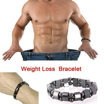 Weight Loss Magnetic Black Stone Health Care Biomagnetism Therapy Bracelet