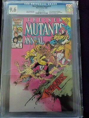 The new mutants annual #2 cgc 9.6 white pages 1st app of psylocke