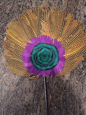 Masquerade  Feather  Costume Fan 11""