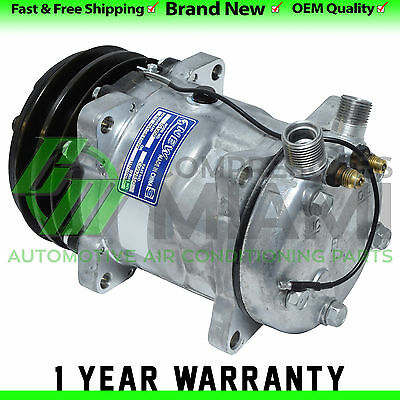 New A/C Compressor and Clutch Sanden SD508 Replacement 2 Grooves Pulley